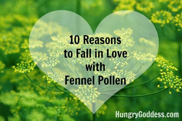 10 Reasons to Fall in Love with Fennel Pollen from The Hungry Goddess for Fennel Friday
