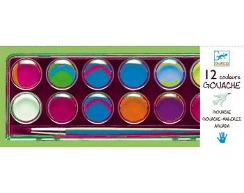 Farby gwasze 12 kolorów