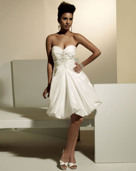 Sweetheart natural waist A-line taffeta wedding dress