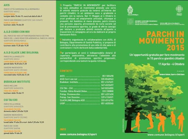 Parchi in movimento a Bologna (info click foto)
