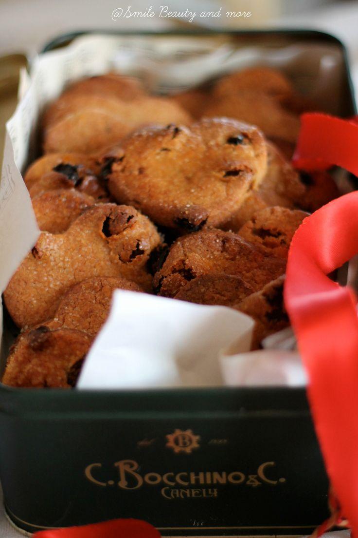 Biscotti con farina di castagne e uvetta www.smilebeautyandmore.blogspot.it