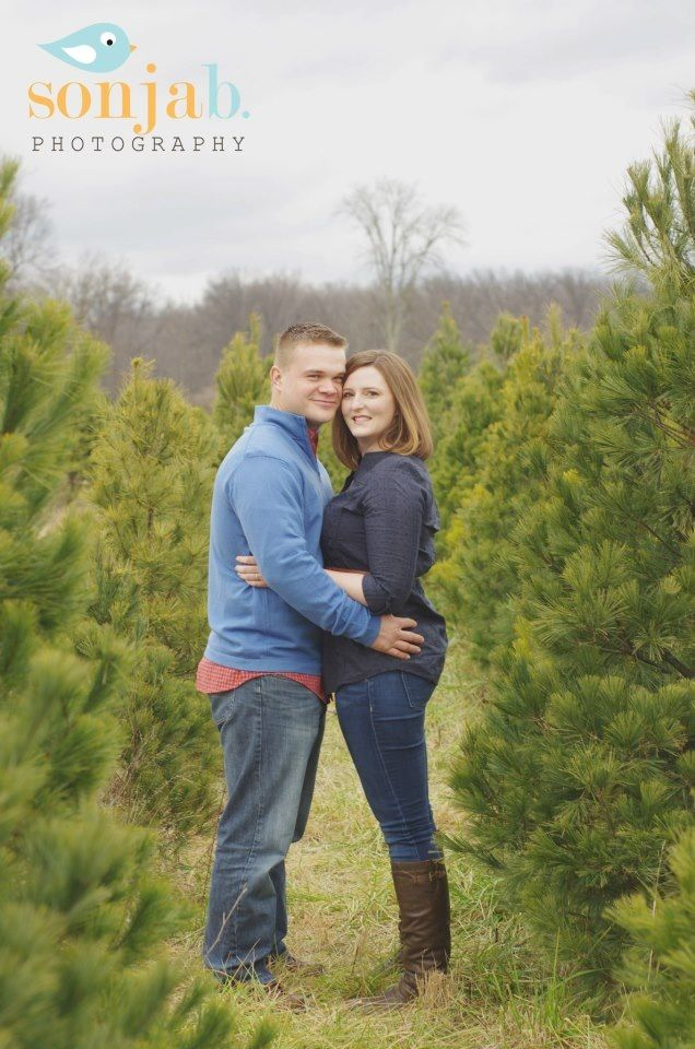 christmas tree farm engagement pictures by sonja b photography in cincinnati ohio wwwsonjabphotography - Christmas Tree Farms In Ohio
