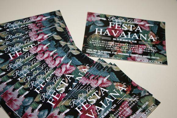Convite Festa Tropical Convite festa havaiana! Convite Floral, 15 anos para festa havaiana! Convite tema Hawa!                                                                                                                                                                                 Mais