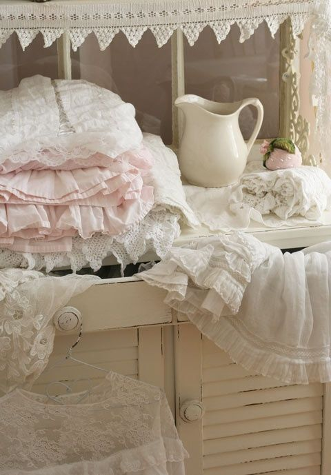 5589 best images about shabby cottage on pinterest for Linge shabby chic