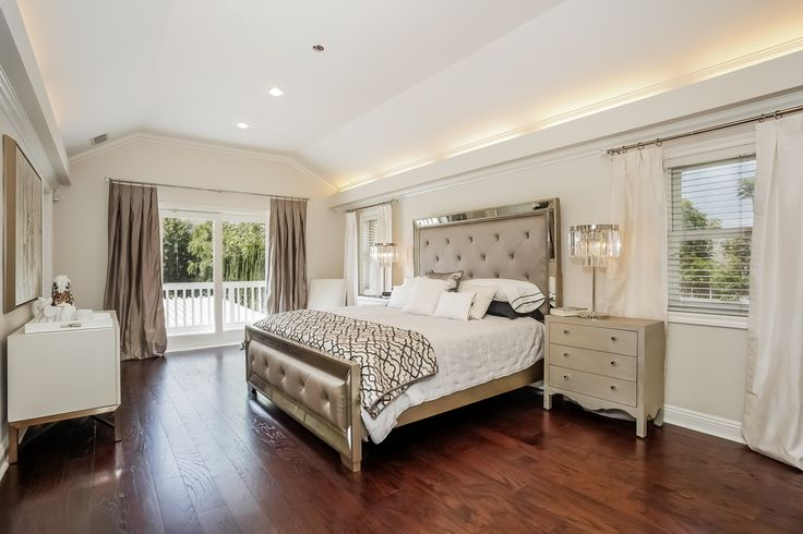 Transitional master bedroom with crown molding by chic by - Attractive zillow home design ...