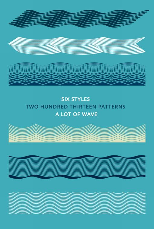 Atlantik typeface of wave ornaments #typography