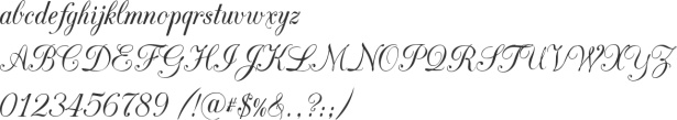 CAC Champagne Alphabet Specimen