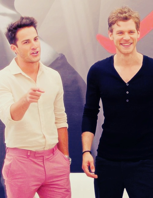 Michael Trevino and Joseph Morgan. Oh man this picture is just aah