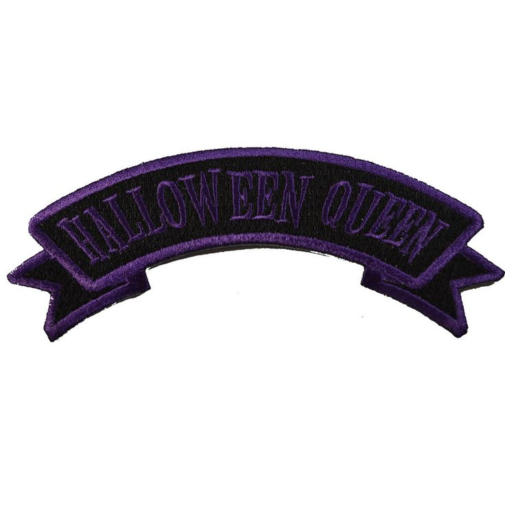 Kreepsville 666 arch patch halloween queen, embroidered iron on patch, size approx 12.5cm(w)