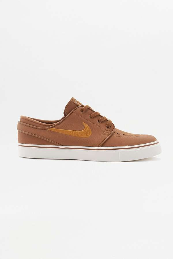 Slide View: 1: Nike SB Air Zoom Stefan Janoski Light Brown Trainers