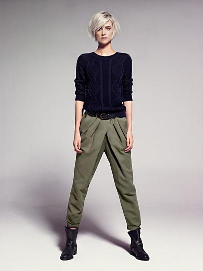 Pantaloni baggy pieghe