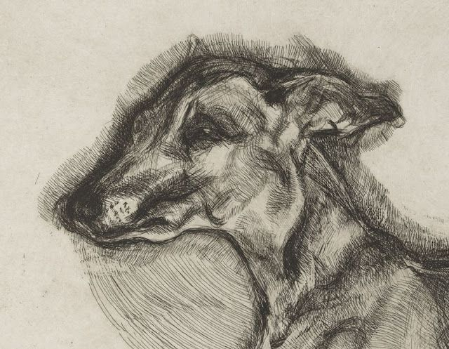 Lucian Freud. I'm not sure I'd relate to an artist that didn't paint animals. Love Freud and love this!