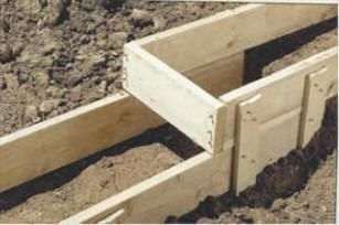 How to build concrete footing and concrete forms