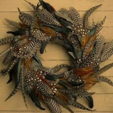 pheasant feather wreath BEAUTIFUL!!