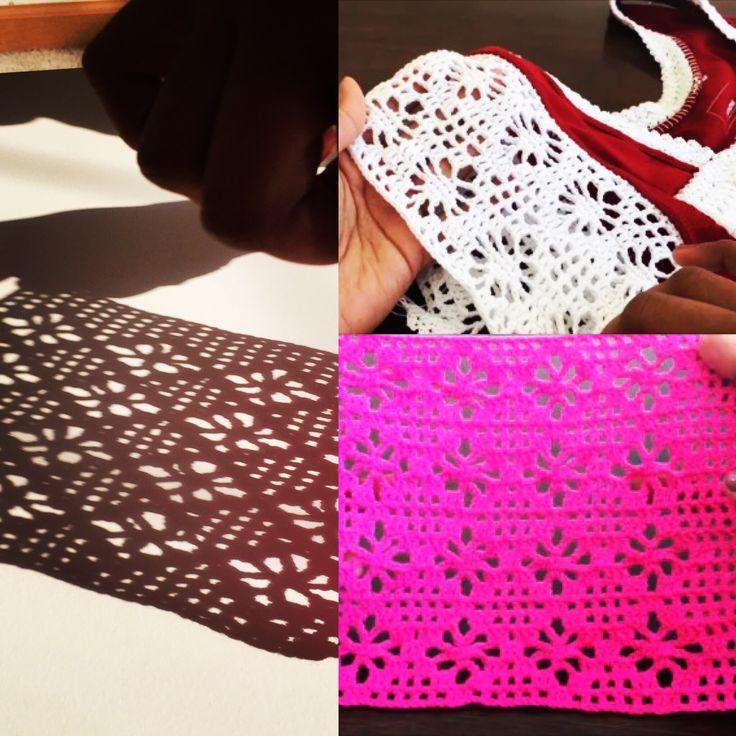 Crochet pattern   filet spider crochet stitch
