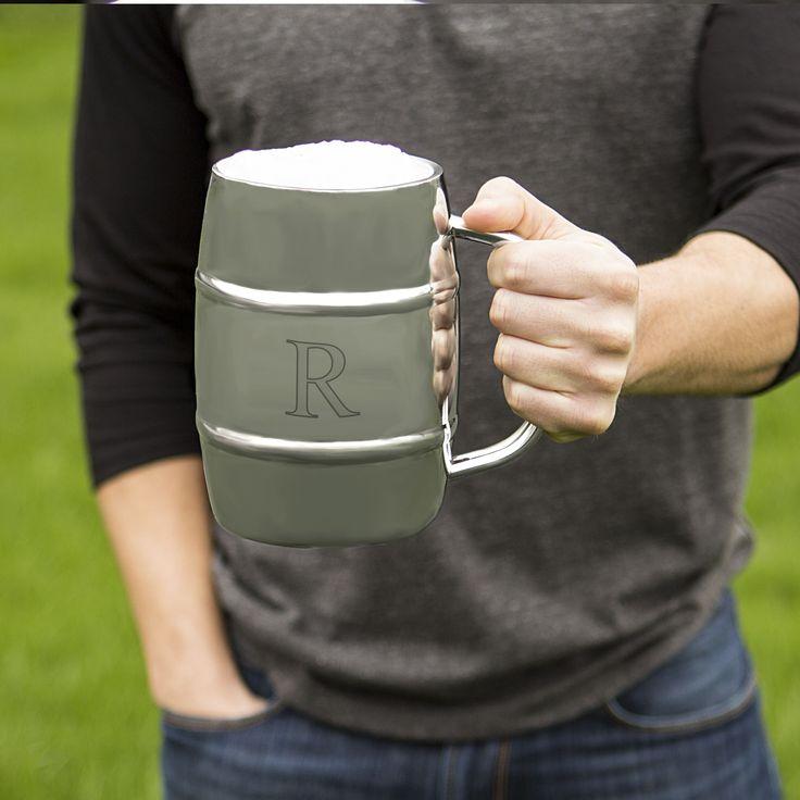 Personalized 33 oz. XL Double-wall Beer Keg Mug