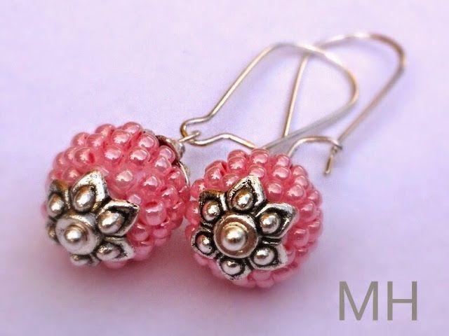Malinowe kolczyki | MH Biżuteria - cuda ręcznie wykonane