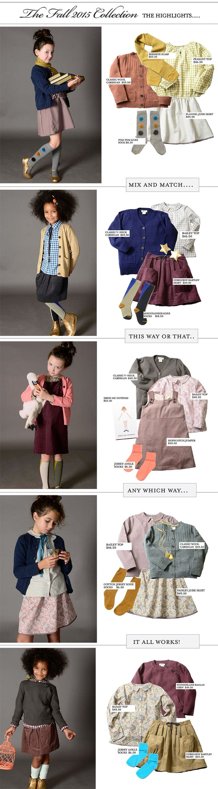 What to Wear | Olive Juice Girls Fall 2015 Collection