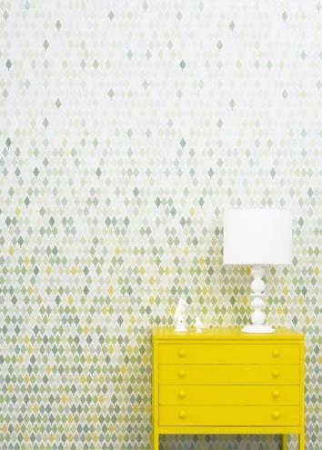 Swedish pattern design by Studio Rita. I love the color gradation.