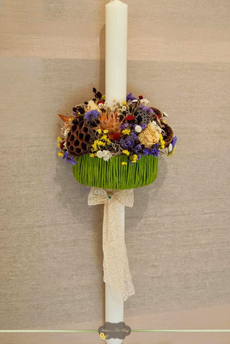 """Helen's Art Bag: Lumanare """"Dried Flowers"""""""