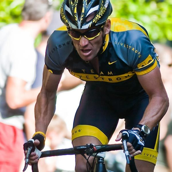 To me, all time hero. Lance Armstrong, seven times Tour de France champion. I believe.