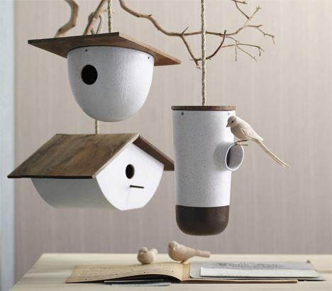 Modern architecture is the height of contemporary living - so why are we still putting out dowdy old birdhouses for our feathered neighbors?
