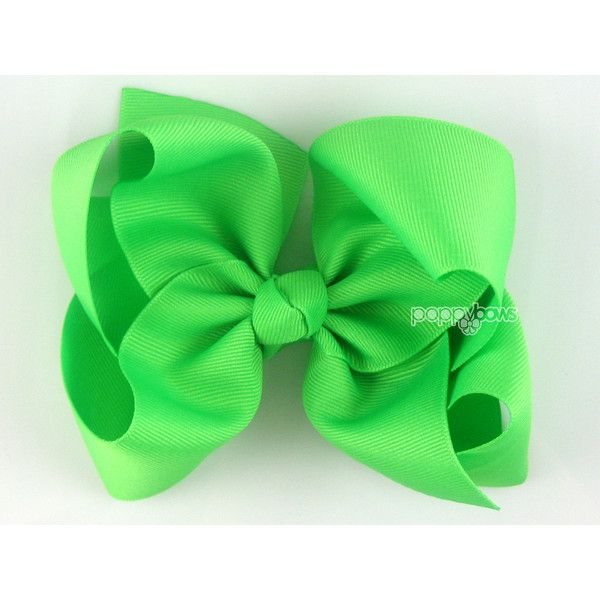 Extra Large Hair Bow Neon Lime Green Hair Bow 6 6 Inch Hair Bows Big... (32 PLN) ❤ liked on Polyvore featuring accessories, hair accessories, barrettes & clips, grey, ribbon hair clips, hair clip accessories, alligator hair clips, neon hair bows and neon hair clips