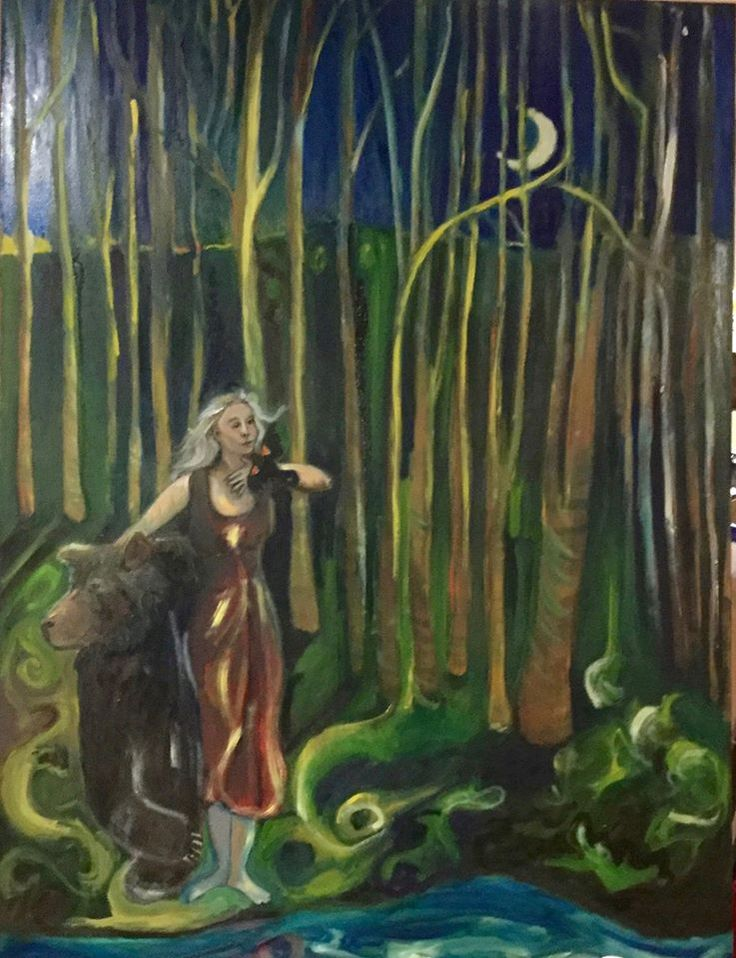 Ursula, Oil painting by Lydia Knox 35x24 oil on canvas.$300.00