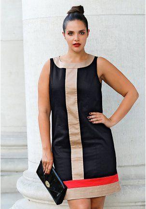 Платье-футляр - http://www.quelle.ru/New_arrivals/Bigsizes_fashion/Bigsizes_dresses/Plate-futlyar__r1326908_m299119.html?anid=pinterest&utm_source=pinterest_board&utm_medium=smm_jami&utm_campaign=board5&utm_term=pin31_09042014 Стильное платьmt-футляр с контрастными ставками, моделирующими силуэт. #quelle #big #size #shift #dress #style #silhouette