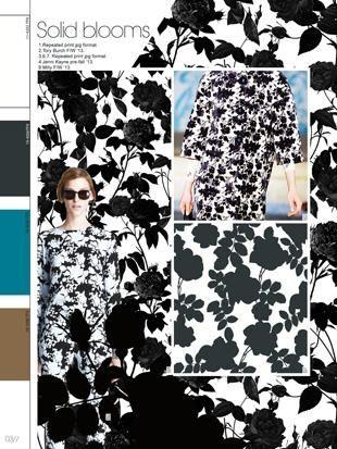 Black Florals - Pattern Trends 2014
