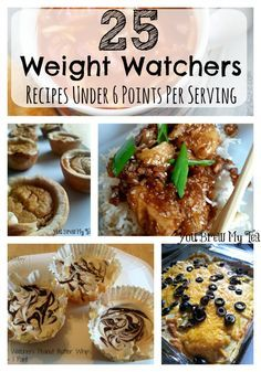 Check out this awesome list of 25 Weight Watchers Recipes Under 6 Points Per Serving! Perfect for your New Years resolution menu plan!
