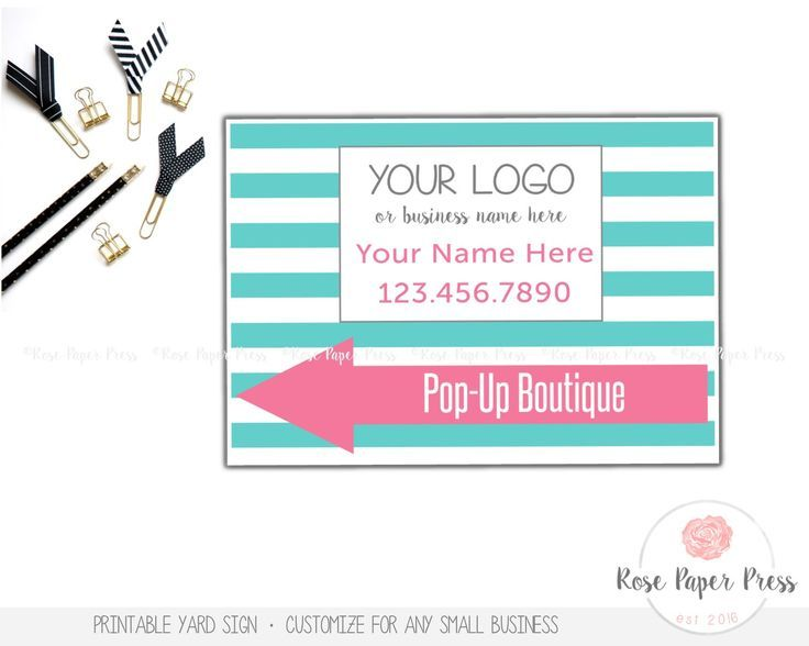 Yard Sign – Stripes | Custom Printable Sign | Lawn Sign, Banner, Color Options by RosePaperPress on Etsy