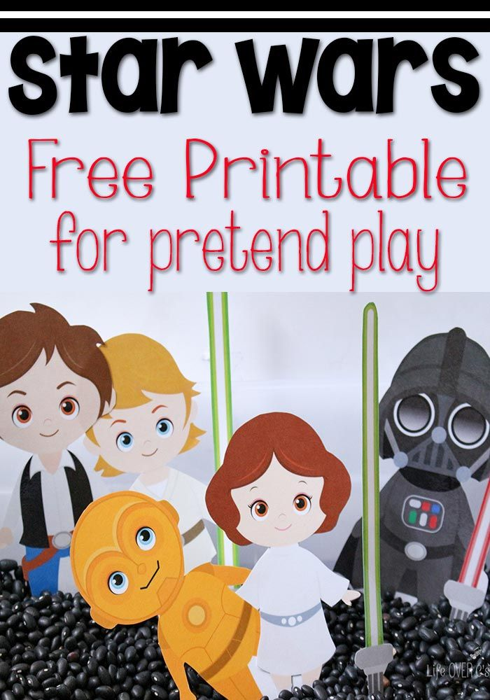 This free Star Wars printable for pretend play is perfect to use in a sensory bin or in play dough! Lots of fun when you can't get outside!