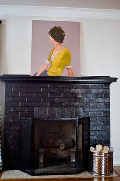 It didn't dawn on me until now...paint the fireplace another color besides white...I like the brick and have been battling covering up...I can update the mantel, stripe the white paint, and go for a darker brick while keeping the old look.....thanks, Houzz....