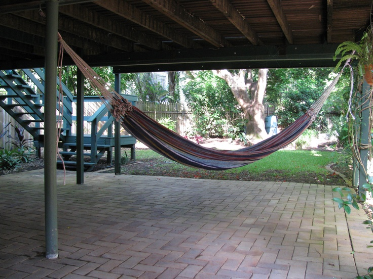 Hammock in the cubby house under the deck - 53 Best Under Deck Ideas Images On Pinterest Outdoor Ideas