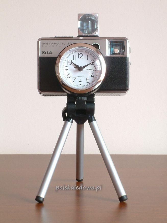 Zegar na statywie jak aparat fotograficzny