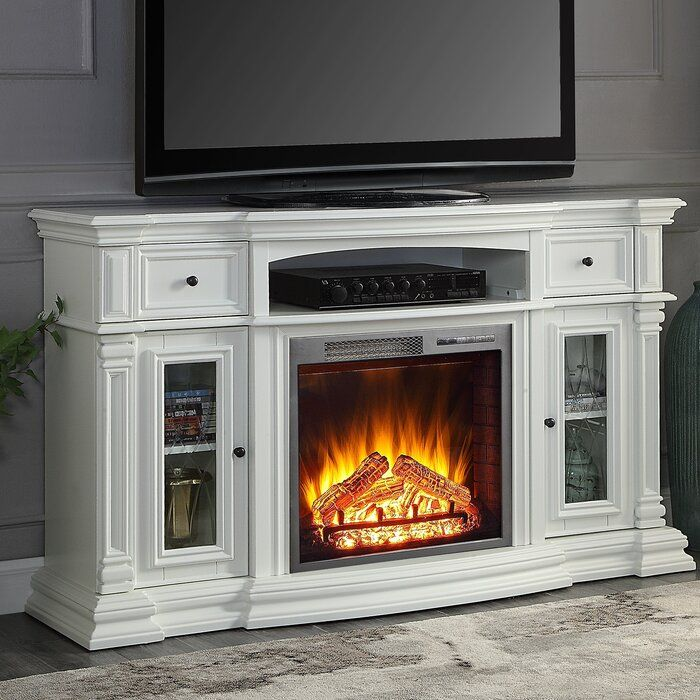 Raya Tv Stand For Tvs Up To 70 With Fireplace Included Electric