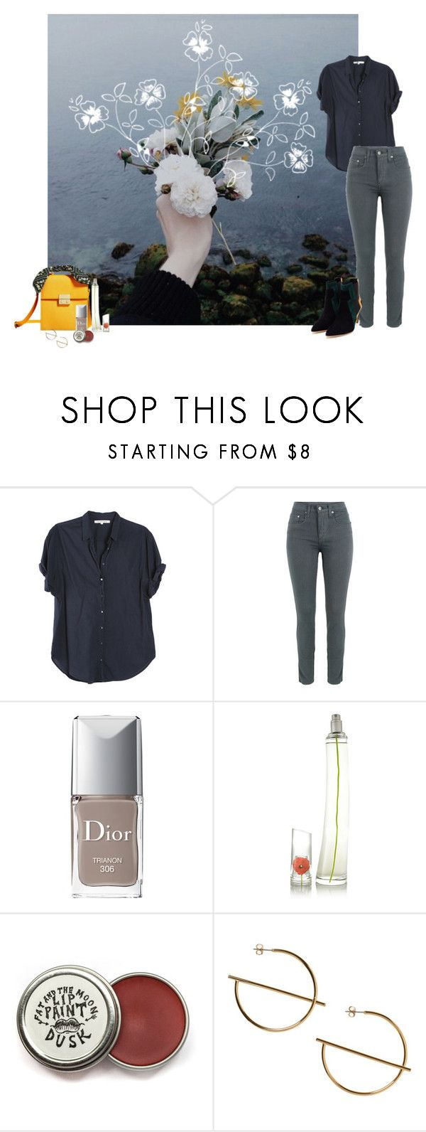 """""""casual"""" by fufuun ❤ liked on Polyvore featuring Xirena, Nobody Denim, Christian Dior, Kenzoki, Monki and Rupert Sanderson"""