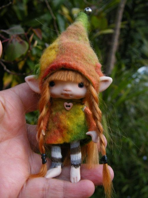 sweet redhaired posable ooak fairy fairie by throughthemagicdoor, $98.00