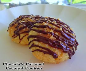 Cut the Wheat: Chocolate Caramel Coconut Cookies