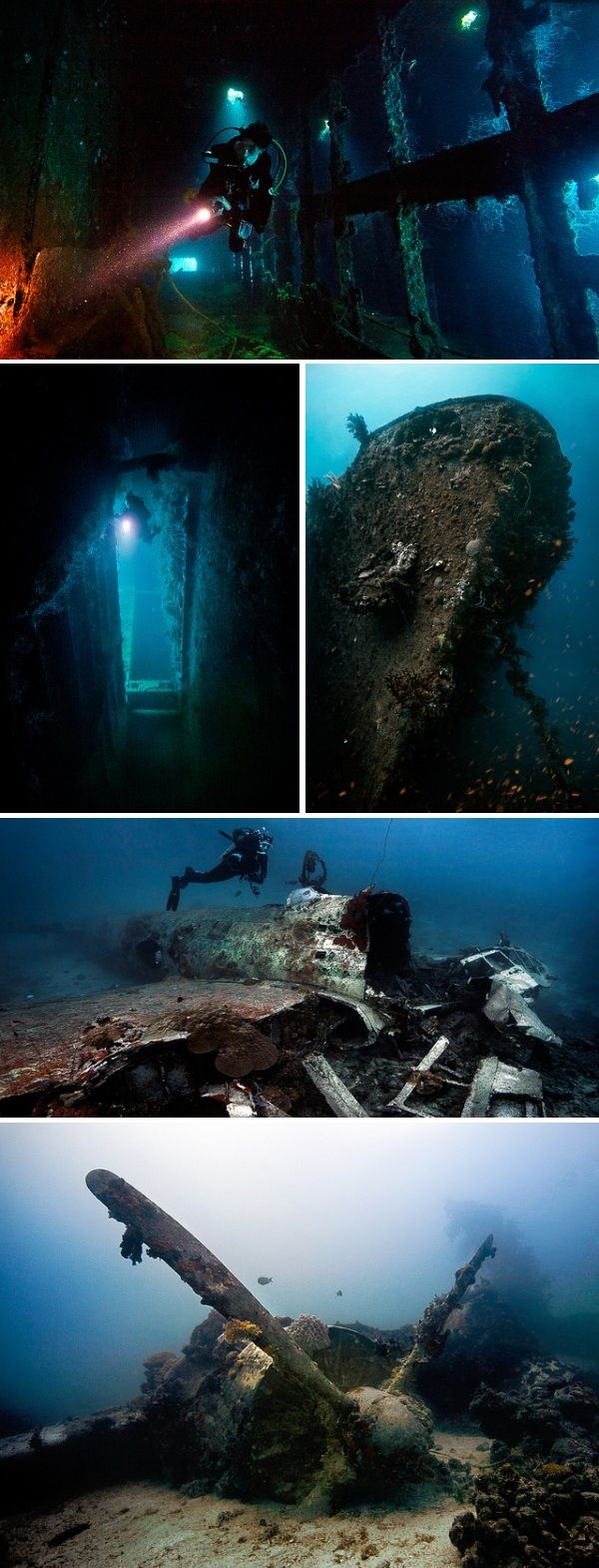 Truk-Lagoon-wrecks-micronesia-pacific-ocean.  The history would be amazing to explore in and out of the water.