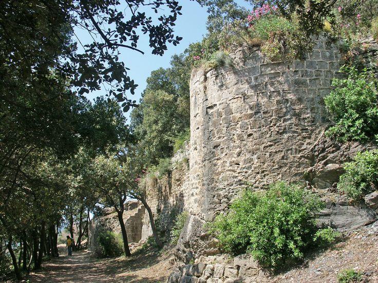 Hyères. Château (courtine)