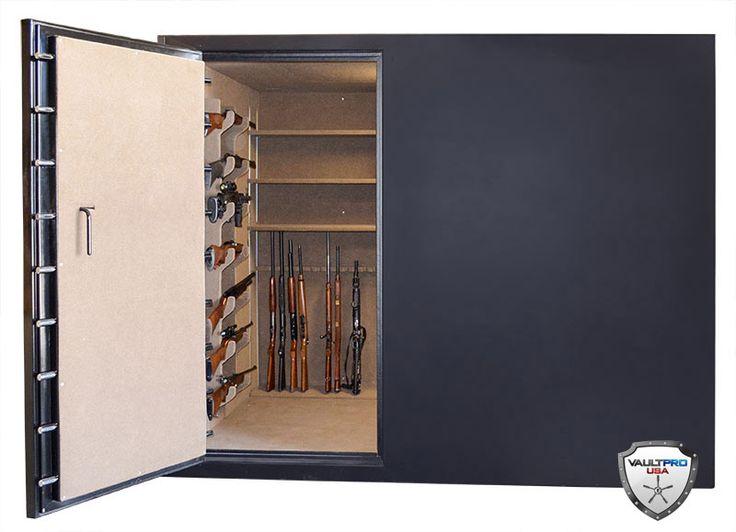 11 best gun room images on pinterest gun storage hand for Walk in gun vault room