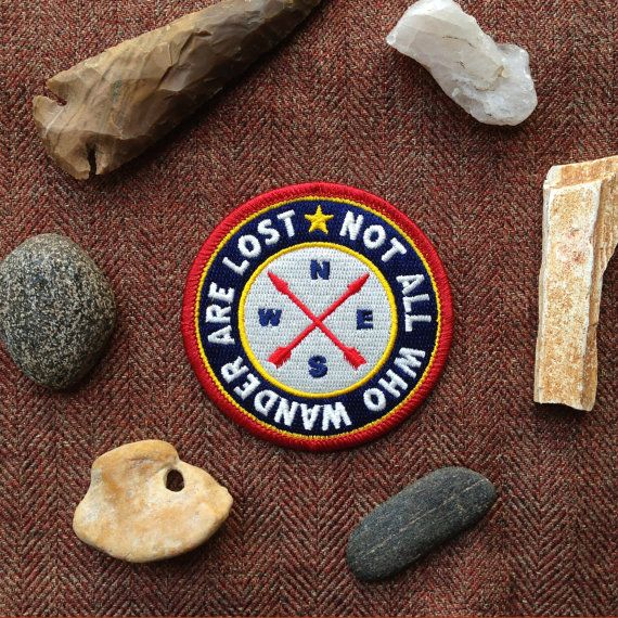 Not All Who Wander Are Lost Iron-On Patch Scout por ShopRedArrow
