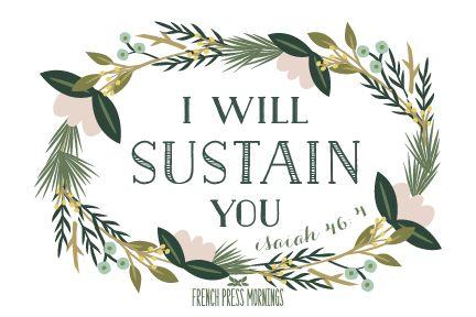 French Press Mornings Print - Isaiah 46:4