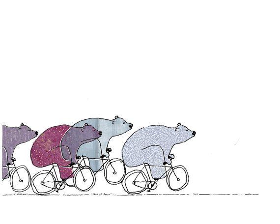 """""""Pack of Bears"""" Art Print by artist Kris Williams"""