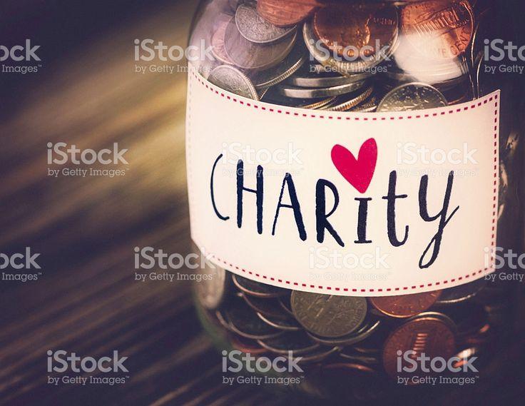 Charity Money Savings Jar royalty-free stock photo
