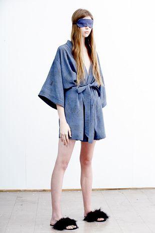 Silk Kimono - Recreation Night print