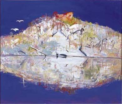 Pulpit Rock Reflections 1991. Arthur Boyd.