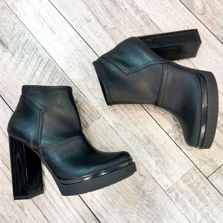 🎉🎉🎉Осенняя новинка!🎉🎉🎉 Модные кожаные ботинки-чулки на толстом устойчивом каблуке👠👠👠🎀 Превосходное качество, очень мягкая кожа👍👍👍 В них Вы всегда будете выглядеть эффектно💃💄👜👄